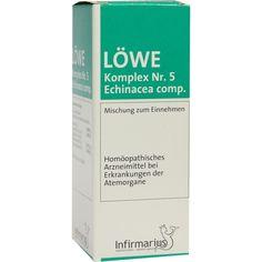 LOEWE KOMPLEX Nr. 5 Echinacea comp. Tropfen:   Packungsinhalt: 50 ml Tropfen PZN: 01036230 Hersteller: Infirmarius GmbH Preis: 7,16 EUR…