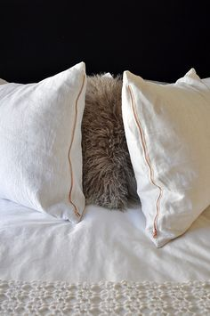 copper zipper pillows! a giveaway / sfgirlbybay