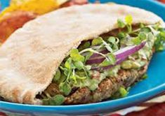 Pinto Bean Falafel with Avocado: Pinto beans replace chickpeas in this Latin twist on a Middle-Eastern classic. #MeatlessMonday