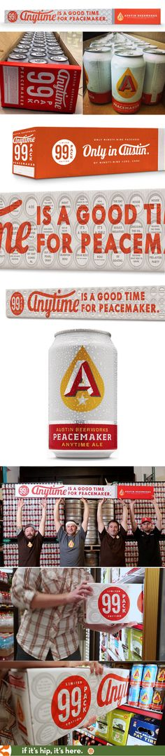 The Anytime Ale 99-pack is the world's first and only. The over 7 foot long carton holds 99 cans of Austin Beerworks' Peacetime craft beer. PD