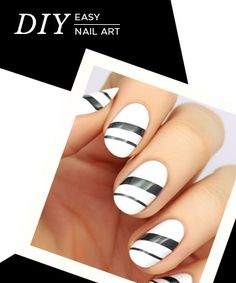 No matter your skill level, you'll be able to pull off these easy nail art designs