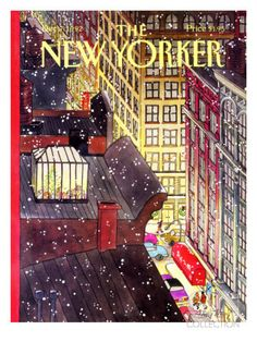 The New Yorker Cover - December 7, 1992 Poster Print by Roxie Munro at the Condé Nast Collection
