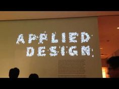 (10) Moving typography projection at MoMA - YouTube