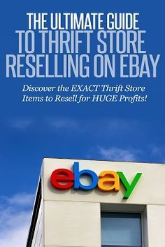 The Ultimate Guide to thrift store reselling on ebay. Learn what to sell on ebay. Work at home ideas. Selling on ebay. Ebay business. Items to look for at Thrift Stores that you can resell on Ebay.