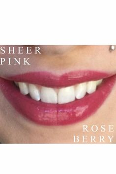 Lipsense Sheer Pink vs Roseberry
