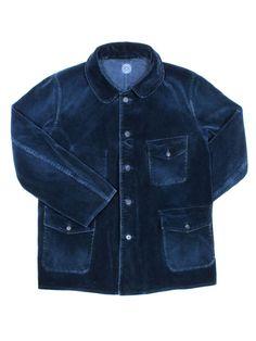 Porter Classic / Navy blue corduroy jacket /