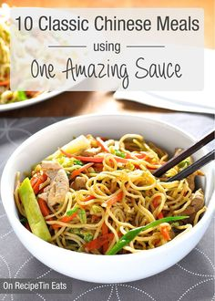 10 Classic Chinese Dishes made using one AMAZING All Purpose Stir Fry Sauce. {All on the table in 15 min} 10 recipes in one post. Save it in your RecipeTin app with a tap!