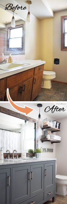 Before and After Total Bathroom Transformation