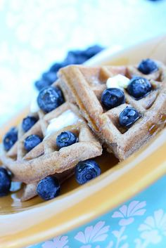yummy ~ Peanut Butter Banana Waffles. I need to invest in a waffle maker. This site is good for vegan recipes.