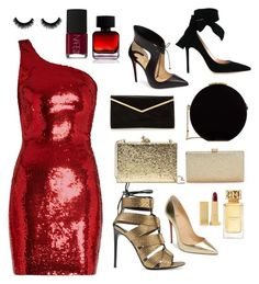 """Lady in red"" by ryabulya on Polyvore featuring мода, Yves Saint Laurent, Tom Ford, Christian Louboutin, Gianvito Rossi, Kate Spade, La Regale, Elie Saab, The Collection by Phuong Dang и Tory Burch"
