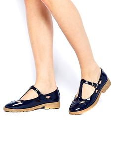 Image 4 of ASOS MOLLY T-Bar Flat Shoes