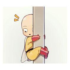 One Punch Man - Chibi Saitama Saitama One Punch Man, Anime One Punch Man, One Punch Man 3, One Punch Man Funny, Kawaii Chibi, Cute Chibi, Anime Chibi, Kawaii Anime, Saitama Sensei