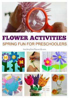 Flower activities for preschoolers! A roundup of fun spring activities your kids are sure to love!