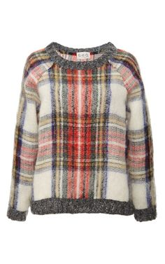 {sea plaid sweater} - love it, though a piece of clothing that requires a deposit is probably not going to be mine...