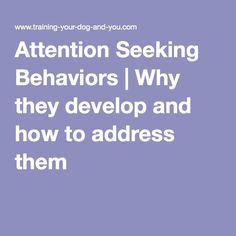 Attention seeking behavior in women