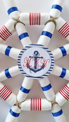 Nautical Baby Shower Centerpiece Captains by LilLoveBugsCreations