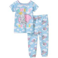 DUMBO - Baby Girls  Licensed Cotton 2-piece Set - Walmart.com 10464df40895