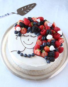 no Dessert Decoration, Let Them Eat Cake, Baking Recipes, Acai Bowl, 4th Of July, Cake Decorating, Pavlova, Food And Drink, Birthday Cake