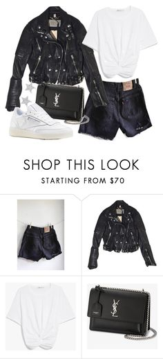 """Untitled #22205"" by florencia95 ❤ liked on Polyvore featuring Burberry, Yves Saint Laurent and Diamond Star"