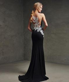 LAINA - Vestido de fiesta encaje y negro | Pronovias