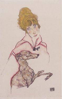 377px-Egon_Schiele_-_Edith_Schiele_mit_Windhund_-_1915.jpeg (377×599)