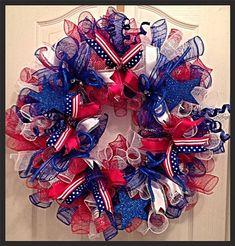 Patriotic Memorial Day or 4th Of July Deco by CKDazzlingDesign, $69.95