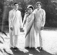 Indira Gandhi with sons