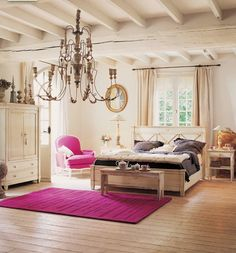 Common Popular Bedroom Accessories: Gorgeous Mater Bedroom Designs With Classic Pendant Lighting As Bedroom Accessories Also Cool Purple Rug With Purple Sectional Sofa Also Contemporary Bedside Table With Modern Table Lamps And Wood Ceiling Coverings ~ surrealcoding.com bedroom Inspiration