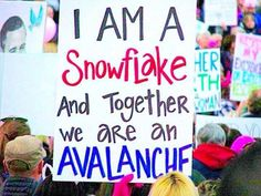Funniest Women's March Signs From Around the World: I Am A Snowflake protest signs funny Protest Posters, Protest Art, Power To The People, Pro Choice, Patriarchy, Funny Signs, Just In Case, Decir No, Science