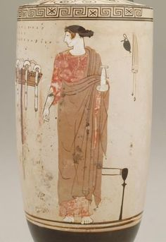 Lekythos (Attic white-ground ware) 460 BC-450 BC