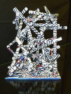 The smARTteacher Resource: DeBuffet inspired paper sculptures