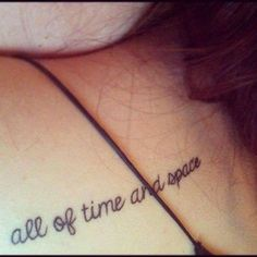 Doctor Who Quote Tattoos | Doctor Who Tattoo Ideas