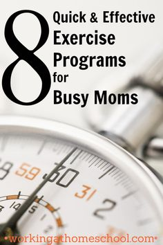 8 Exercise Programs for Busy Moms - Quick Workouts that I use along with Trim Healthy Mama to stay trim!