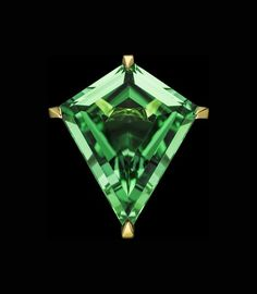 Known for stunning, saturated hues, tourmaline is a colorful and modern gemstone. Read about quality factors for this gem in our tourmaline buying guide. Tourmaline Ring, Green Tourmaline, Green Diamond, Gems And Minerals, Kite, Neon Green, Chevrolet Logo, Gemstones, Metal