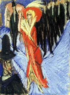 Red Coquette - Ernst Ludwig Kirchner - as an art print of reproArte