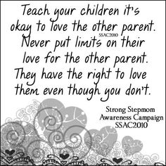 Stop alienating and bad talking...and stop making him feel guilty for loving his Dad, Step-Mom and Baby sister.
