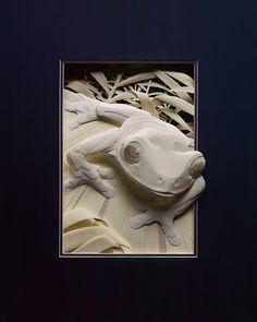 Бумажные скульптуры животных от Кэлвина Николлса (33 фото) » Картины, художники…