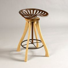 Tractor Seat Stool by bradfordwoodworking on Etsy, $630.00
