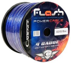 Cadence 4G150-BLUE 4 Gauge 20 Foot blue Amp Power Wire Spool w/ Cool Cable Technology (Cut from a 150 Foot Spool) by Cadence. $19.95. Cadence 4G150-BLUE 4 Gauge 20 Foot blue Amp Power Wire Spool w/ Cool Cable Technology (Cut from a 150 Foot Spool)  Features:  Model: 4G150-BLUE Gauge: 4 Gauge Wire Length: 20ft Cadence Cool Cable Technology Special Winding Configuration Reduces Unwanted Noises and Maximizes Current Transfer High Purity Oxygen Free Copper Standing I...