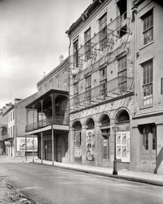 "New Orleans circa 1936. ""Dufilho Pharmacy, 512 Chartres St."""