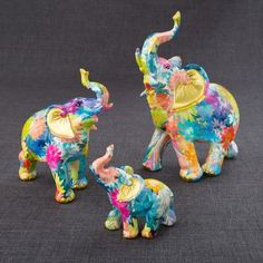 FashionCraft Mini Elephant 3 Piece Figurine Set