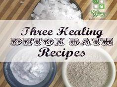 Three Healing Detox Bath Recipes