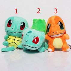 #Pokemon starters #plush #toys: #Charmander, #Bulbasaur, #Squirtle Toys Empire