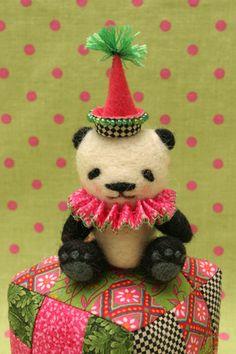 panda block pin cushion by Nimblenot...Jennifer Stanfield