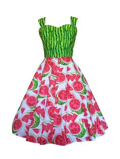 Watermelon dress | Pinup clothing | Swing dresses