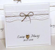 Eko zaproszenia ślubne Invitation Cards, Wedding Invitations, Wedding Cards, Place Cards, Scrapbooking, Place Card Holders, Weddings, Handmade, Design
