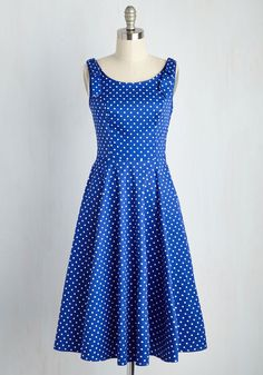 Fall in Loveliness Dress. Enchanted by retro fashion and timeless elegance? #blue #modcloth