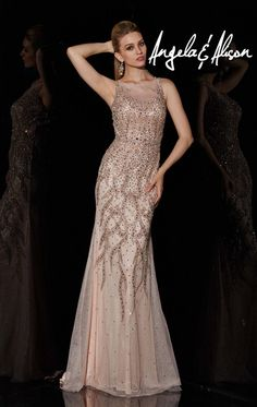 Angela and Alison 51093 Elegant Beaded Formal Dress