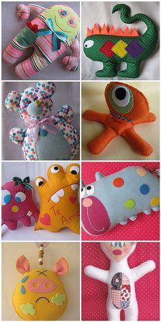 Monster toys by Priscila Cunha