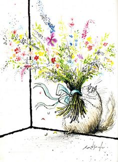 Ronald Searle's Big Fat Cat Book by Queenie & the Dew, via Flickr